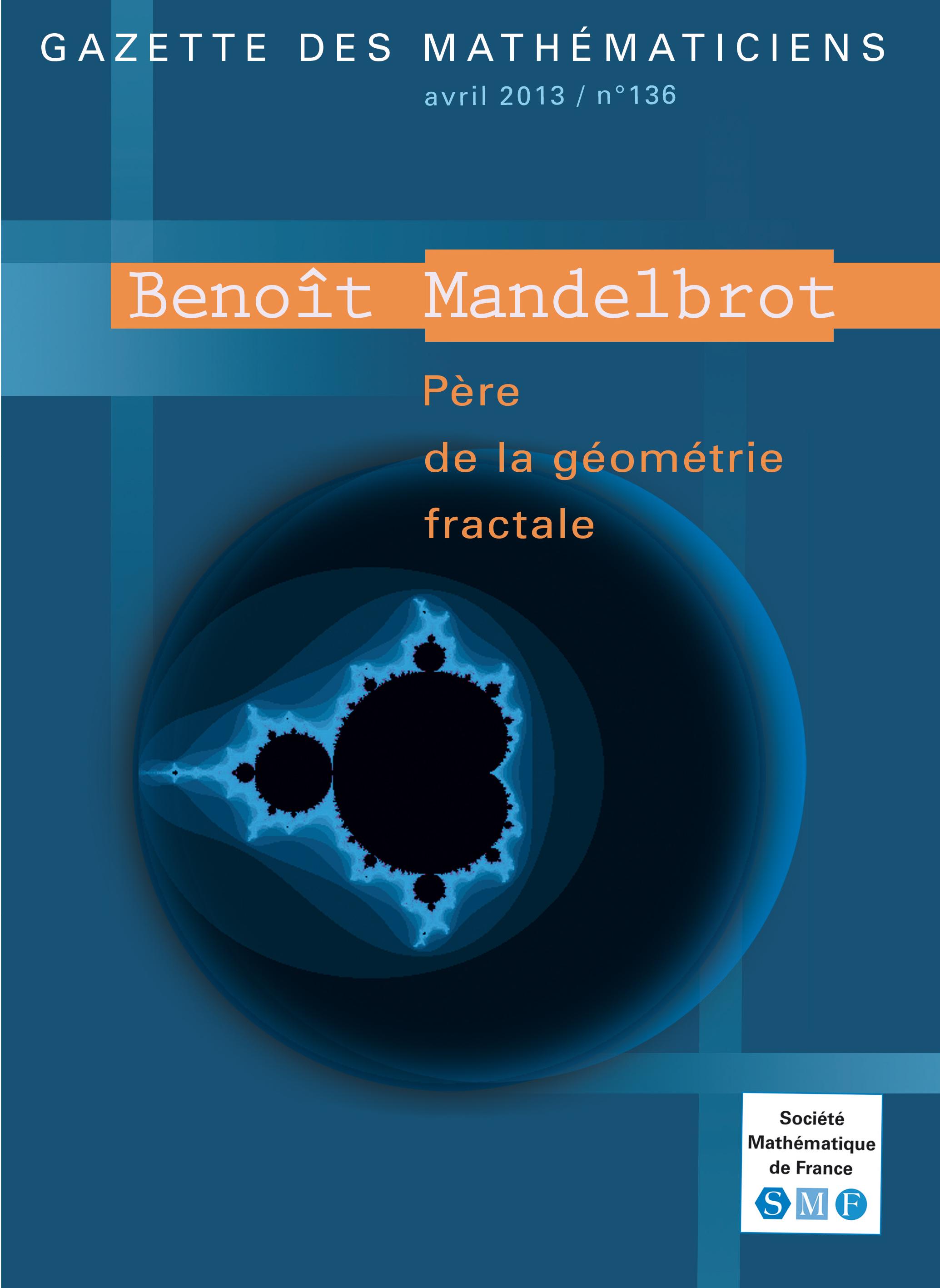 Numéros spéciaux Gazette   Société Mathématique de France 74d7c3447bd3