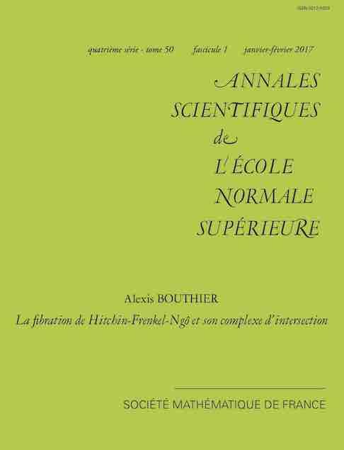 Annales scientifiques de l'ÉNS