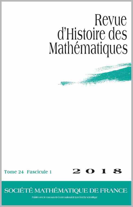 Revue d'histoire des mathématiques