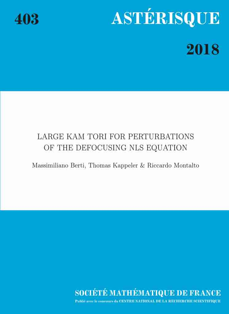 Large KAM tori for perturbations 