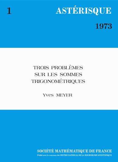 Trois problèmes sur les sommes trigonométriques (réimpresssion numéro 1 - 1973)
