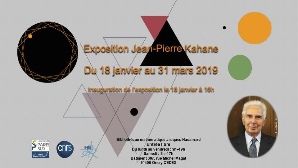 Exposition Jean-Pierre Kahane (1926-2017)