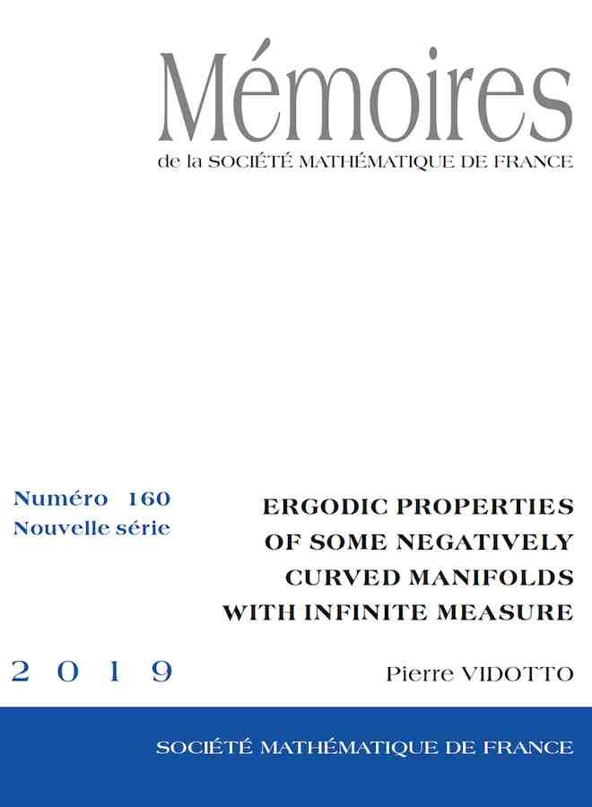 Ergodic properties of some negatively curved manifolds with infinite measure