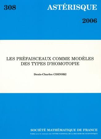 Les préfaisceaux comme modèles des types d'homotopie