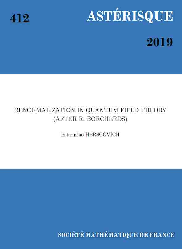 Renormalization in Quantum Field Theory (after R. Borcherds)