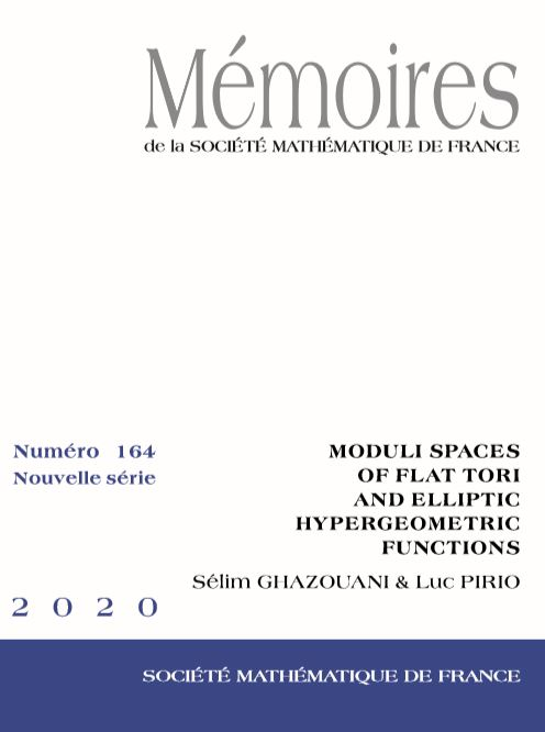 Moduli spaces of flat tori and elliptic hypergeometric functions
