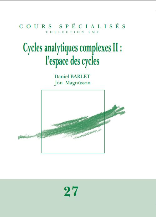 Cycles analytiques complexes II : l'espace des cycles