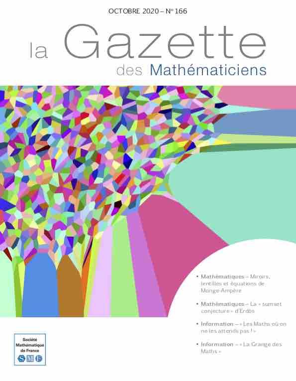La Gazette des mathématiciens 166 (octobre 2020)