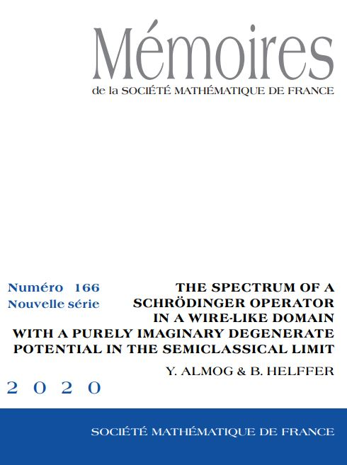The spectrum of a Schrödinger operator in a wire-like domain with a purely imaginary degenerate potential in the semiclassical limit