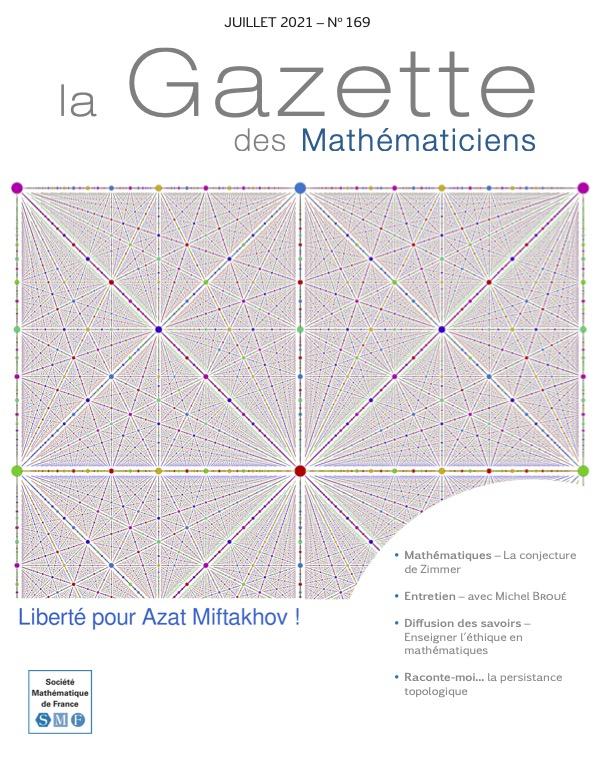 La Gazette des mathématiciens 169 (juillet 2021)