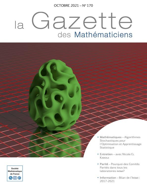 La Gazette des mathématiciens 170 (octobre 2021)