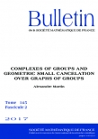 Complexes of groups and geometric small cancelation over graphs of groups