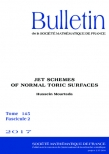 Jet schemes of normal toric surfaces