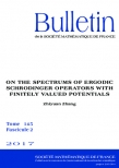 On the spectrums of ergodic Schrodinger operators with finitely valued potentials