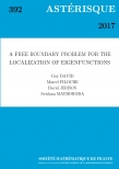 A Free Boundary Problem for the Localization of Eigenfunctions