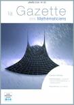 La Gazette des mathématiciens 155 (janvier 2018)
