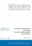 Poisson ensembles of loops of one-dimensional diffusions