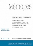 Compactness properties of perturbed sub-stochastic $C_{0}$-semigroups on $L^{1}(\mu )$ with applications to discreteness and spectral gaps