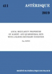 Local regularity properties of almost- and quasiminimal sets with a sliding boundary condition