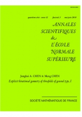 Géométrie birationnelle explicite des variétés de type général de dimension 3, I