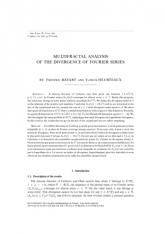 Analyse multifractale des points de divergence des séries de Fourier