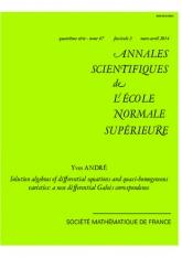 Algèbres de solutions d'équations différentielles et variétés quasi-homogènes: une nouvelle correspondance de Galois différentielle