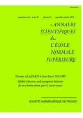 Solutions globales et comportement asymptotique pour l'équation des ondes de gravité en dimension deux