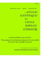 Le $q$-analogue du groupe fondamental sauvage et le problème inverse de la théorie de Galois aux $q$-différences