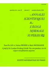Une preuve de la correspondance de Landau-Ginzburg/Calabi-Yau via la conjecture de la transformation crépante