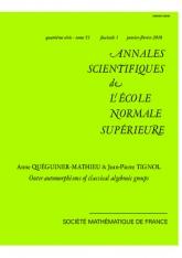 tomorphismes extérieurs des groupes algébriques classiques