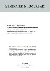 Exposé Bourbaki 719 : La convergence presque sûre des moyennes ergodiques suivant certaines sous-suites d'entiers [d'après Jean Bourgain]