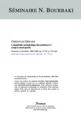 Complétude asymptotique des systèmes à $N$ corps à courte portée [d'après I.M.Sigal et A.Soffer]
