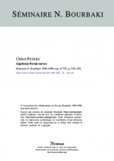 Exposé Bourbaki 723 : Algebraic Fermi curves [after Gieseker, Trubowitz and Knörrer]