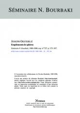 Exposé Bourbaki 727 : Empilements de sphères