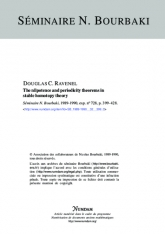 Exposé Bourbaki 728 : The nilpotence and periodicity theorems in stable homotopy theory
