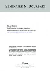 Exposé Bourbaki 743 : Représentations des groupes quantiques