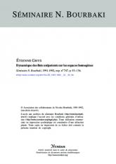 Exposé Bourbaki 747 : Dynamique des flots unipotents sur les espaces homogènes