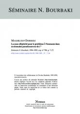 Exposé Bourbaki 790 : La sous-ellipticité pour le problème $\overline {\partial }$-Neumann dans un domaine pseudoconvexe de ${\bf C}^n$