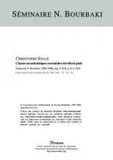 Exposé Bourbaki 819 : Classes caractéristiques secondaires des fibrés plats