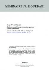 Exposé Bourbaki 850 : Explosion géométrique pour certaines équations d'ondes non linéaires [d'après Serge Alinhac]