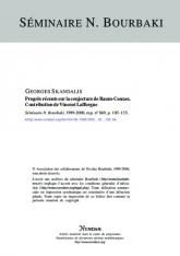 Exposé Bourbaki 869 : Progrès récents sur la conjecture de Baum–Connes. Contribution de Vincent Lafforgue