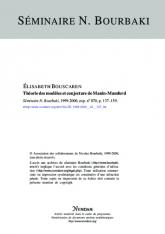 Exposé Bourbaki 870 : Théorie des modèles et conjecture de Manin-Mumford