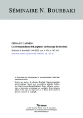 Exposé Bourbaki 873 : La correspondance de Langlands sur les corps de fonctions