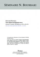 Exposé Bourbaki 875 : Algèbres vertex et courbes algébriques