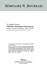 Exposé Bourbaki 878 : Représentations linéaires fidèles des groupes de tresses