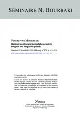 Permutations et matrices aléatoires, intégrales matricielles et systèmes intégrables