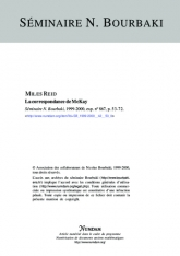 Exposé Bourbaki 867 : La correspondance de McKay