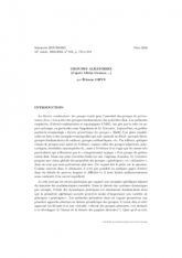 Exposé Bourbaki 916 : Groupes aléatoires