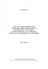 Sur les caractères des groupes réductifs finis à centre non connexe: applications aux groupes spéciaux linéaires et unitaires