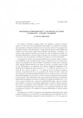 Métriques kählériennes à courbure scalaire constante: unicité,stabilité